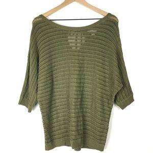 New York & Company Sweater M Off Shoulder Dolman